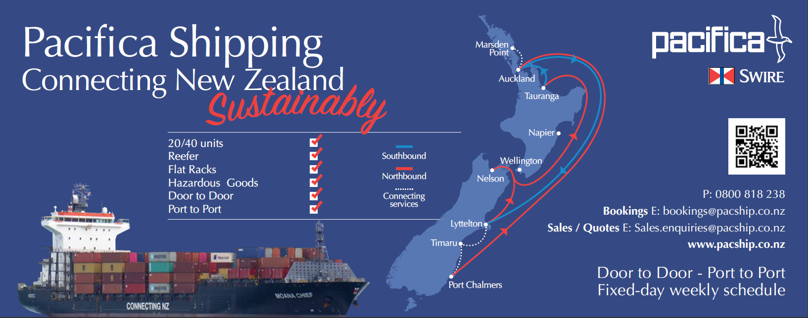 Pacifica Shipping - Connecting New Zealand